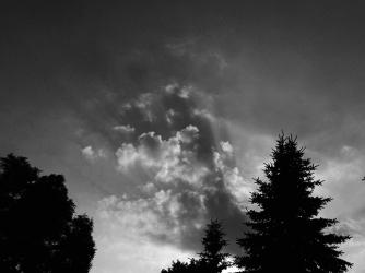 17. BW - Sunset, Night Sky - Barrie, Ontario, Canada July 2014. (SM CADMAN)