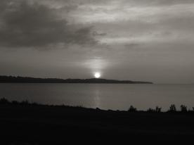 20. BW - Sunrise, Centennial Beach - Barrie, Ontario, Canada July 2014. (SM CADMAN)